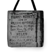 Here Lies Frances And Helen Tote Bag