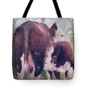 Hereford Cow Calf Tote Bag