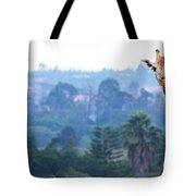 Here's Looking At You Kid.  Giraffe In Kenya Africa Tote Bag