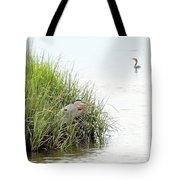 Heron And Cormorant Tote Bag