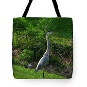 Heron Blue Tote Bag