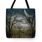 Heron By Moon Glow  Tote Bag