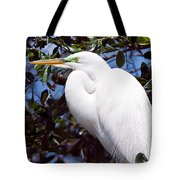 Heron Deep Contemplation Tote Bag