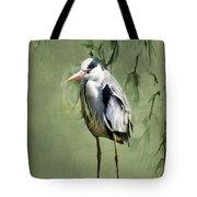 Heron Egret Bird Tote Bag