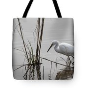 Heron Fishing Tote Bag