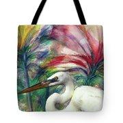 Heron Flair Tote Bag