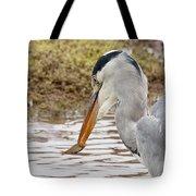 Heron Harpoon Tote Bag