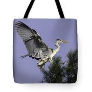 Heron In Fern Tree Tote Bag