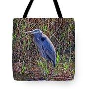 Heron In Marshes Tote Bag