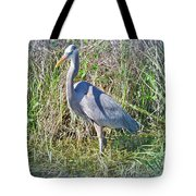 Heron In The Wetlands Tote Bag