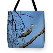 Heron In Tree  4998 Tote Bag