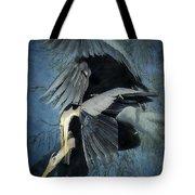 Heron Love  Tote Bag