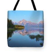 Heron On Jackson Lake Tote Bag