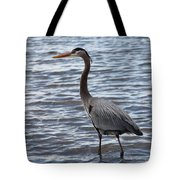 Heron On  Lake Guntersville Tote Bag
