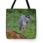 Heron On Log Tote Bag
