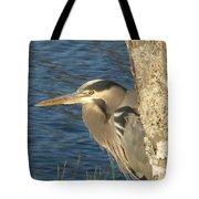 Heron On My Doorstep Tote Bag