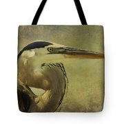 Heron On Texture Tote Bag