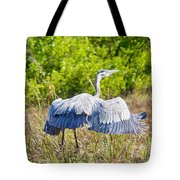 Heron On The Rise Tote Bag