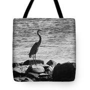 Heron On The Rocks Tote Bag by William Selander