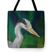 Heron Painting Tote Bag