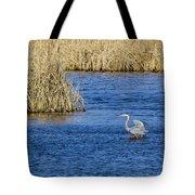 Heron Preening Tote Bag