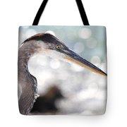 Heron Searching Tote Bag