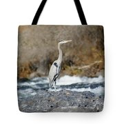Heron The Rock Tote Bag