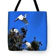 Heron Trio Tote Bag