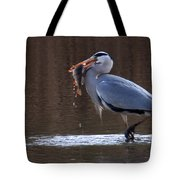 Heron With Perch Tote Bag