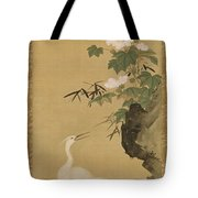 Herons And Cotton Roses Tote Bag