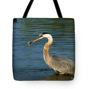 Herons Catch Tote Bag