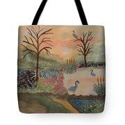 Heron's Hangout At Sunrise Tote Bag