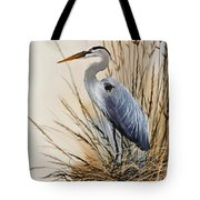 Heron's Solitude Tote Bag