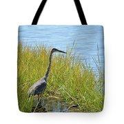 Herron In The Grasses Tote Bag