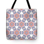 Hexagonal Flower Pattern Tote Bag