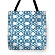 Hexagonal Snowflake Pattern Tote Bag