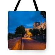 Hexham Abbey At Night Tote Bag