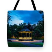 Hexham Bandstand At Night Tote Bag
