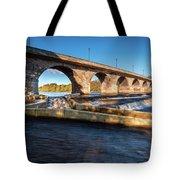 Hexham Bridge And Fish Pass Tote Bag