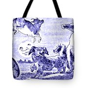 Hey Diddle Diddle The Cat And The Fiddle Nursery Rhyme Tote Bag