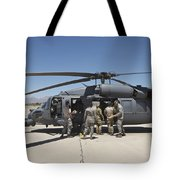 Hh-60g Pave Hawk With Pararescuemen Tote Bag