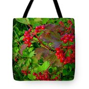 Hi Bush Cranberry Close Up Tote Bag