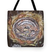 Hibernating Chipmunk From River Mural Tote Bag