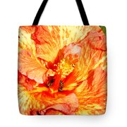 Hibiscus And Bees Tote Bag