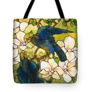 Hibiscus And Parrots Tote Bag