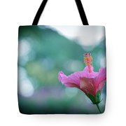 Hibiscus Flower In A Garden Tote Bag
