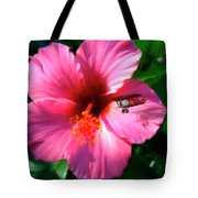 Hibiscus Fly-by Tote Bag
