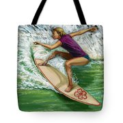 Hibiscus Girl Tote Bag