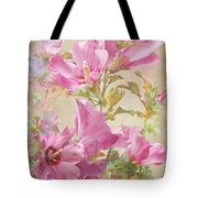 Hibiscus Impression Tote Bag
