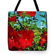 Hibiscus In Naptown Tote Bag